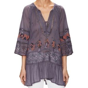 Free People You're Mine Peasant Tunic Top